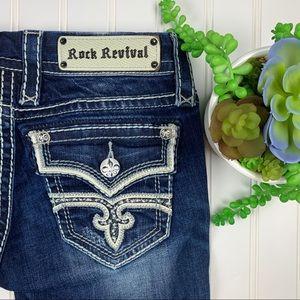 🆕 Rock Revival Rare Size 24 Kayla Skinny Jeans🌵